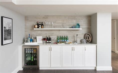 Toronto Wet Bar Ideas Home Transitional With Sink Metal