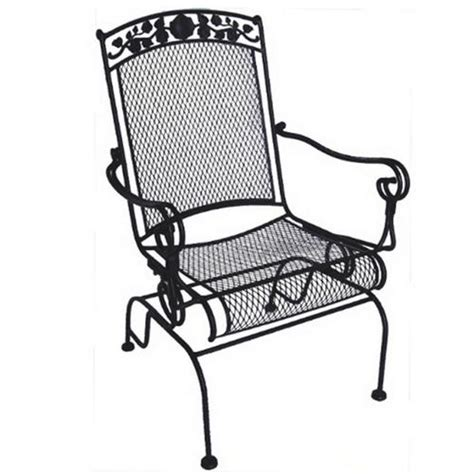 high back wrought iron rocker chairs at brookstone buy now