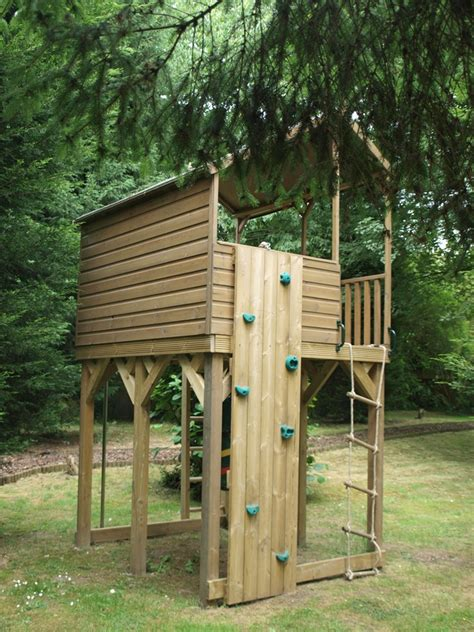 Detached Deck Plans by Tree House Platform Treehouses The Playhouse Company