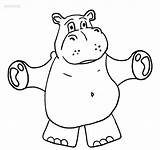 Hippo Coloring Pages Cartoon Cool2bkids Printable Getcolorings sketch template