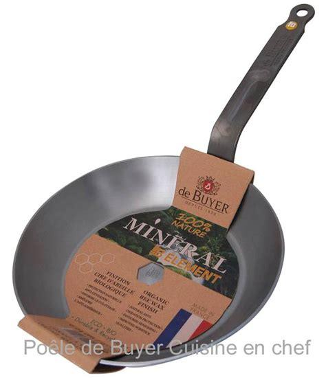 cuisine en chef poêle de buyer acier fer minéral b ø 24