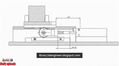 Stroke Rack Cylinder Operation Pinion Mechanism