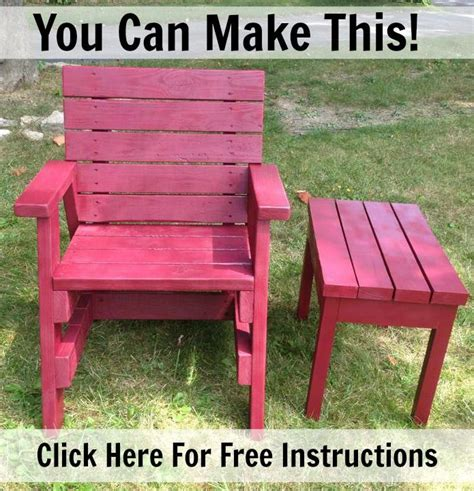easy plans to make this chair and side table from 2x4s or