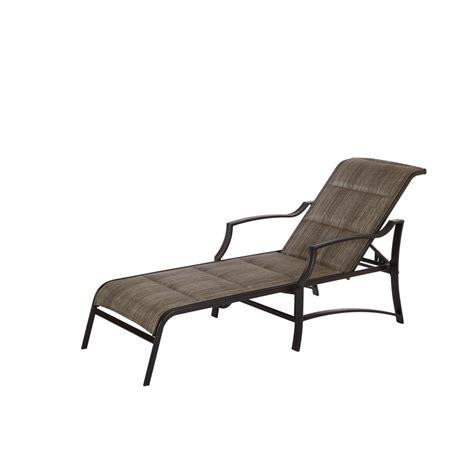 outdoor chaise lounge chairs hton bay statesville pewter aluminum outdoor chaise
