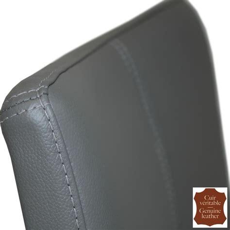 chaise cuir gris 2 chaises en cuir de vachette pleine fleur gris turin six