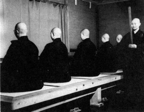 zen meditating monks monk japanese dojo buddhist
