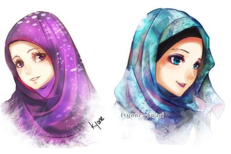 anime hijab simple hijab girls by kyone kuaci on deviantart