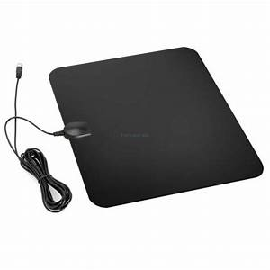 300 Mile Ultra Thin Flat Indoor Hdtv Amplified Hd Tv Black Antenna 13ft 1080p For Sale Online