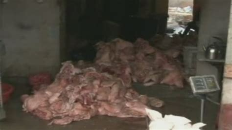 china fake meat scandal crime ring busted  selling