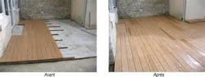 nivrem terrasse bois directement dalle beton