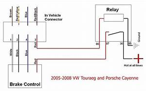 Diagram For Brake Controller Installation On A 2006 Volkswagen Touraeg V10