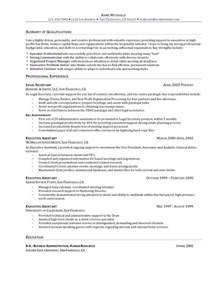 high level executive assistant resume executive assistant resume