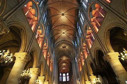 Dame Notre Interior Paris Tour Cathedral Towers