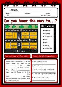 giving directions interactive  downloadable worksheet