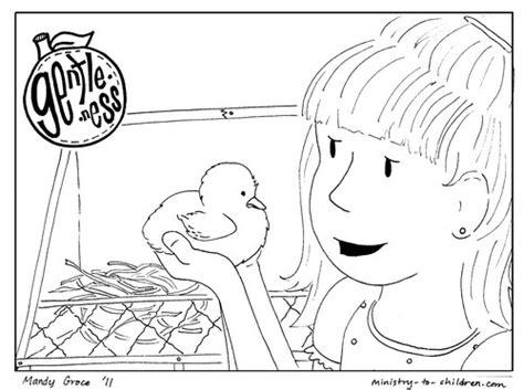 gentleness coloring page  kids printable