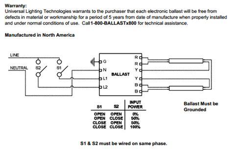 universal ballastar energy management b228pu95s50d 2 l