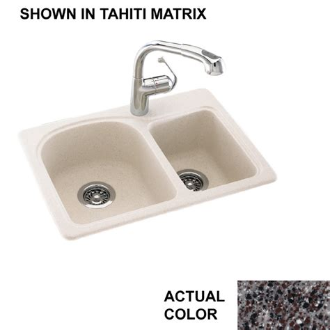 composite kitchen sinks undermount shop swanstone double basin drop in or undermount
