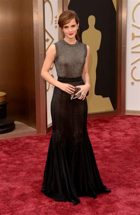 Emma Watson Wearing Vera Wang Dress Oscars