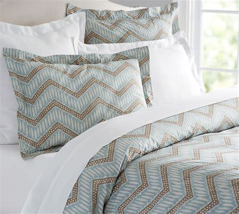 chevron duvet cover sidney chevron duvet cover sham pottery barn