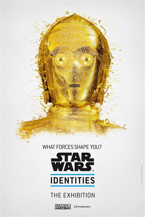 star wars identities  exhibition posters