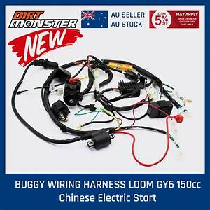 Buggy Wiring Harness Loom Gy6 150cc Chinese Electric Start Kandi Go Kart Dazon