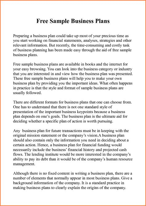 Sample Business Project Plan This Benefits New