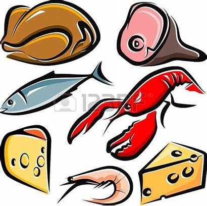 Meat Clipart Fish Chicken Cooked Raw Lake