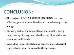 Ppt On Solar Street Lighting System