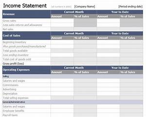 How To Track Expenses For Small Business Income Statement Template Free Income Statement Template