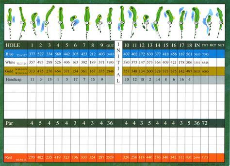 golf scorecard usa golf scorecards page 6