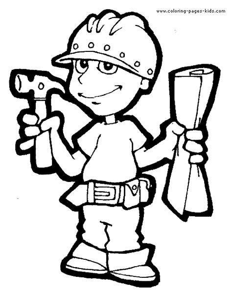 jobs coloring worksheet jobs coloring pages color