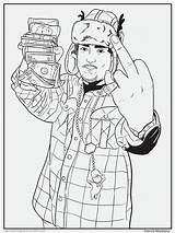 Coloring Pages Colouring Hop Hip Rap Rapper French Bun Lil Rappers Montana Drawing Sheets Future Books Wayne Delightful Tumblr Activity sketch template
