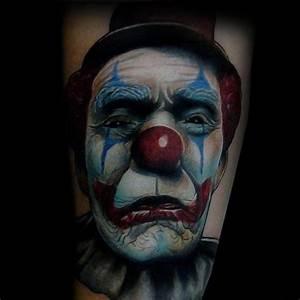 Old School Gun Designs 169 Selected Scary Clown Tattoos Parryz Com