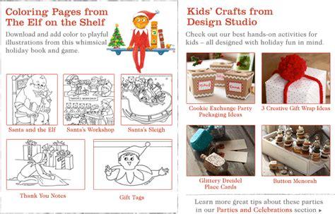 holiday activities pottery barn kids