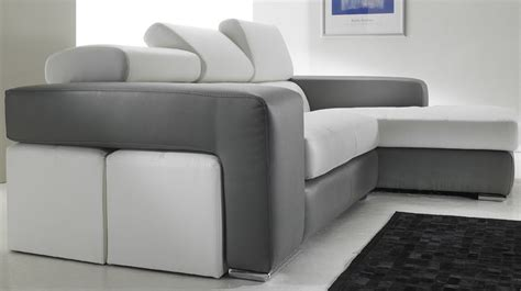 canapé d angle noir et blanc canapé d 39 angle en cuir noir et blanc pas cher canapé