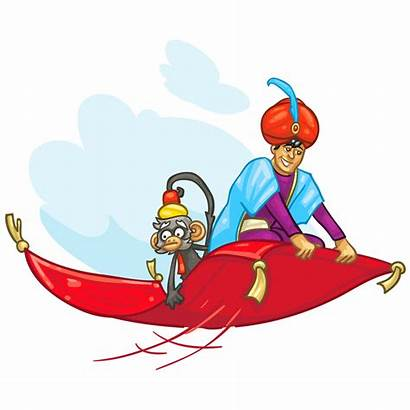 Carpet Clipart Flying Magic Aladdin Mat Arabian