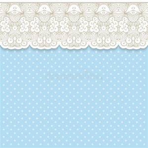 Retro Background With Lace Border Stock Vector - Image ...
