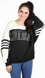 Kissenbezug Schwarz Weiß : adidas logo w sweater schwarz wei im weare shop ~ Lateststills.com Haus und Dekorationen