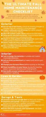 the ultimate fall home maintenance checklist - Home Design Checklist