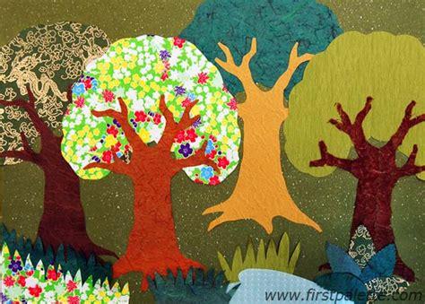 collage work for preschoolers forest collage craft crafts firstpalette 326