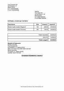 Italian invoice template for Italian invoice template