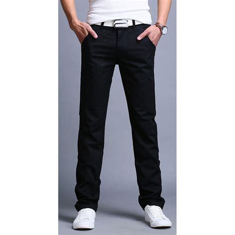 Celana Pria Be 084 celana chinos panjang pria size 28 black