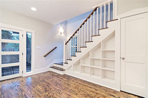 Customized Staircase With Built-in Shelves