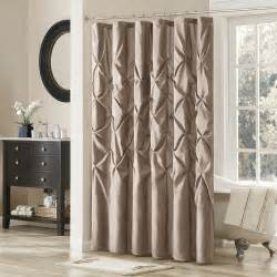 Yellow Grey And White Shower Curtain