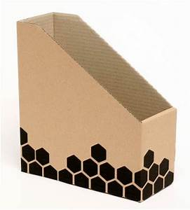 cardboard magazine holder With cardboard document holder