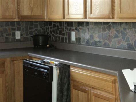 slate tile kitchen backsplash best 25 slate backsplash ideas on kitchen 5323