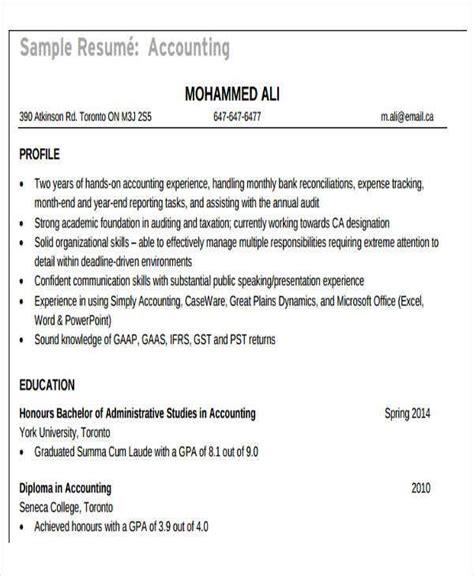 accountant resume templates   premium