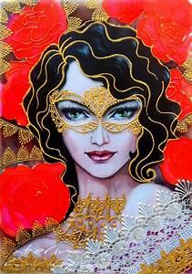 Valentine, Girl, Glass, Painting, U2013, Creative, Art