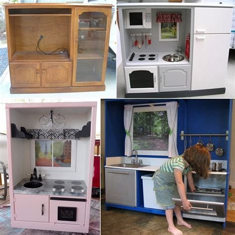 Transform An Old Tv Cabinet Into A Play Kitchen For Your