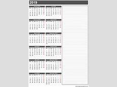 Free Printable Calendar 2019 Templates Download Blank